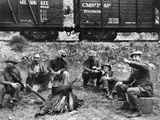 Group Of Hoboes, 1920S Photographic Print