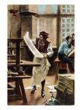 Johann Gutenberg Prints by Jean Leon Gerome Ferris