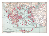 Map: Ancient Greece Giclee Print