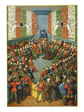 French Court, 1458 Poster