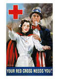 World War Ii: Red Cross Premium Giclee Print by James Montgomery Flagg