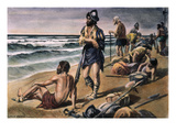 Cabeza De Vaca Expedition Giclee Print by Alfred Russell