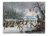 Native Americans: Ball Play, 1855 Giclee Print
