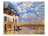 Sisley: Flood, 1876 Art by Alfred Sisley