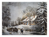 Currier & Ives: Winter Scene Art by  Currier & Ives