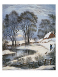 Currier &amp; Ives: Winter Moonlight Giclee Print by Currier &amp; Ives 