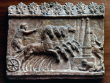 Roman Relief: Chariot Race Photographic Print