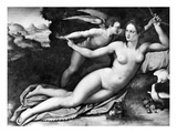 Venus And Cupid Prints by Alessandro Allori