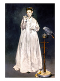 Manet: Woman & Parrot Prints by Edouard Manet