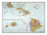 Map: Hawaii, 1905 Giclee Print