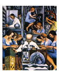 Rivera: Mechanization 1932 Giclee Print by Diego Rivera