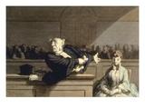 Daumier: Advocate, 1860 Reproduction giclée Premium par Honore Daumier