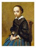 Corot: Girl, C1860 Art by Jean-Baptiste-Camille Corot
