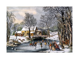 Winter Pastime, 1870 Giclee Print by  Currier & Ives