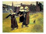 Gauguin: Breton Girls, 1888 Art by Paul Gauguin