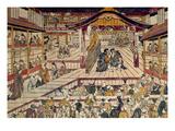 Japan: Kabuki Theater Premium Giclee Print by Okumura Masanobu