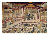 Japan: Kabuki Theater Giclee Print by Okumura Masanobu