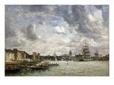 Boudin: Port, 1869 Giclee Print by Eugène Boudin