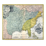 Mississippi Region, 1687 Giclee Print