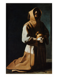 St Francis Of Assisi Giclee Print by Francisco de Zubaran