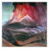 Atl: Volcano, 1943 Giclee Print by Gerardo Murillo