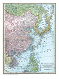 Map: East Asia, 1907 Posters