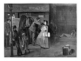 Salvation Army In Slums Giclee Print by Charles H. Broughton