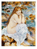 Renoir: Seated Bather, 1885 Prints by Pierre-Auguste Renoir