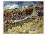 Van Gogh: Cottages, 1890 Prints by Vincent van Gogh