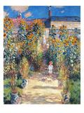 Monet: Garden/Vetheuil Reproduction procédé giclée par Claude Monet