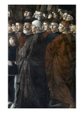 Christ, Peter And Andrew Posters by Domenico Ghirlandaio
