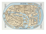 World Map 2Nd Century Giclee Print