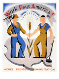 New Deal: Wpa Poster Giclee Print by Vera Bock
