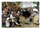 Bruegel: Peasant Dance Art by Pieter Bruegel the Elder