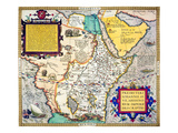 African Map, 1595 Posters by Abraham Ortelius