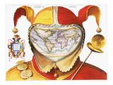 Fool's Cap World Map, C1590 Giclee Print