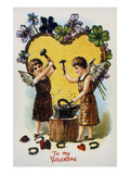 Valentine's Day Card, 1900 Giclee Print