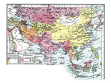 Map: Europe In Asia Giclee Print