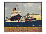Steamship Travel Poster Posters