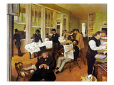 Degas: Cotton Office, 1873 Giclee Print by Edgar Degas