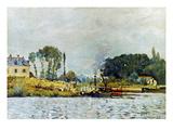 Sisley: Boats, 1873 Giclee Print by Alfred Sisley