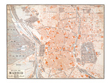 Spain: Madrid Map, C1920 Giclee Print