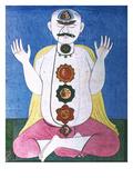 Hindu Chakras Wheels Giclee Print