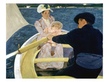 Cassatt: Boating, 1893-4 Print by Mary Cassatt