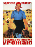 Russia: Collective Farm Giclee Print by Maria Voron