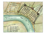 Plan Of New Orleans, 1798 Print