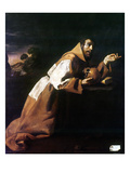 St. Francis Of Assisi Print by Francisco de Zubaran
