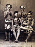 Tahiti: Men, C1890 Photographic Print