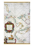 East Indies Map, 1670 Giclee Print by John Seller