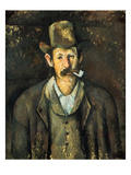 Cezanne: Pipe Smoker, C1892 Reproduction procédé giclée par Paul Cézanne